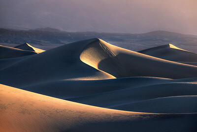 First light at the sand dunes