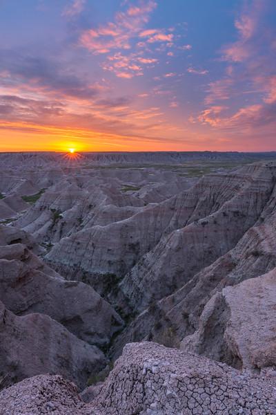 Daybreak at the Badlands