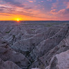 Daybreak at the Badlands