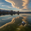 Lenticular cloud at Mono Lake