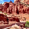 Staircase to red rocks