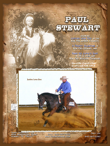 Paul Stewart - in the Terry Thompson spread - Applaoosa Journal