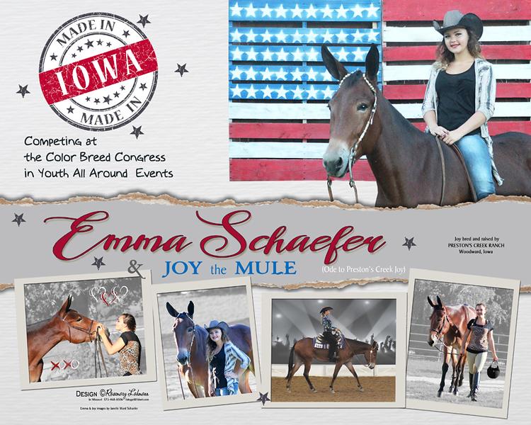 Emma & JOY the Mule