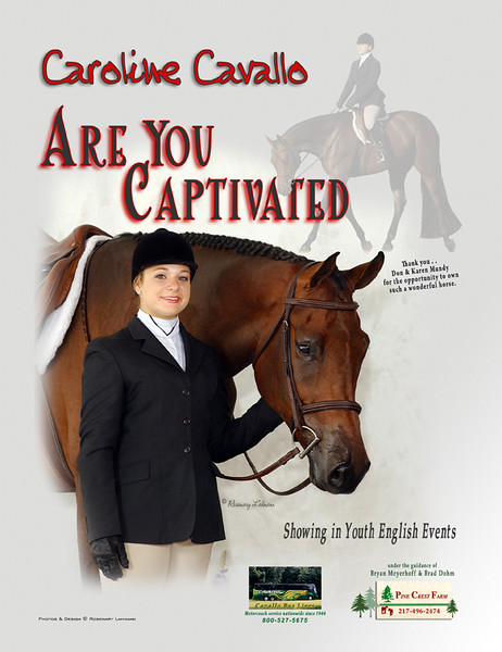 Ad for Caroline Cavallo for Youth World '08