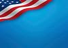 USA - flag on blue background