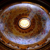 Breath taking ceiling at St. Peter's Basilica (Basilica di San Pietro).