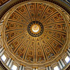 Michelangelo's dome was only completed to the base when he died. <br /> It was later finished by Giacomo della Porta in 1590