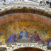 Outside the Basilica di San Marco, this is the above the main portal, tympanum, Venizia (Venice)