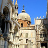 What I thought was the most breath-taking corner in Piazza San Marco in Venice, Italy.  This corner captured one of the domes of the Basilica, the architectural detail of the Doge's Palace.