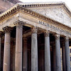 "The Pantheon, meaning ""Temple of all the gods"" is a building in Rome which was originally built as a temple to all the gods of Ancient Rome, and rebuilt circa 125 AD during Hadrian's reign.  The Pantheon is the oldest standing domed structure in Rome. The height to the oculus and the diameter of the interior circle are the same, 43.3 metres (142 ft)."