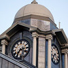 Clock tower above Brampton city hall, on Main street.