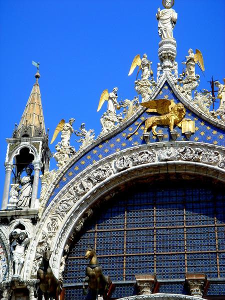 Basilica di San Marco, detail above central arch