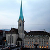 Of all the church spires that pierce Zürich's skyline, the slender, blue spire of Fraumünster (Minster of Our Lady) is the most graceful. And it is best known for housing magnificent stained glass windows by Marc Chagall.