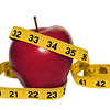 Apple With Measuring Tape Isolated