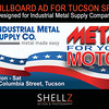 20' x 8' Billboard Ad designed for Industrial Metal Supply and Tuscon Speedway