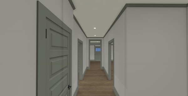 Main hallway with Transom