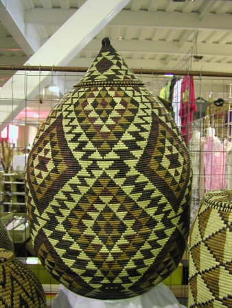 Zulu Tribal woven pattern baskets South Africa