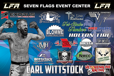 Fight Sponsorship Banner For Carl Wittstock
