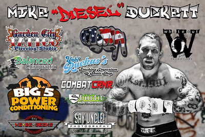 Fight Sponsorship Banner For Mike Duckett