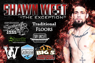 Fight Sponsorship Banner For Shawn West