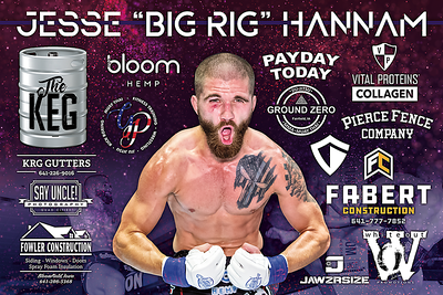 Fight Sponsorship Banner For Jesse Hannam