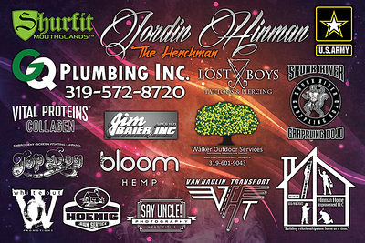 Fight Sponsorship Banner For Jordin Hinman