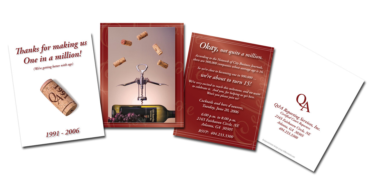 Concept, Photography, Photo Illustration, and Design<br /> QA anniversary invite