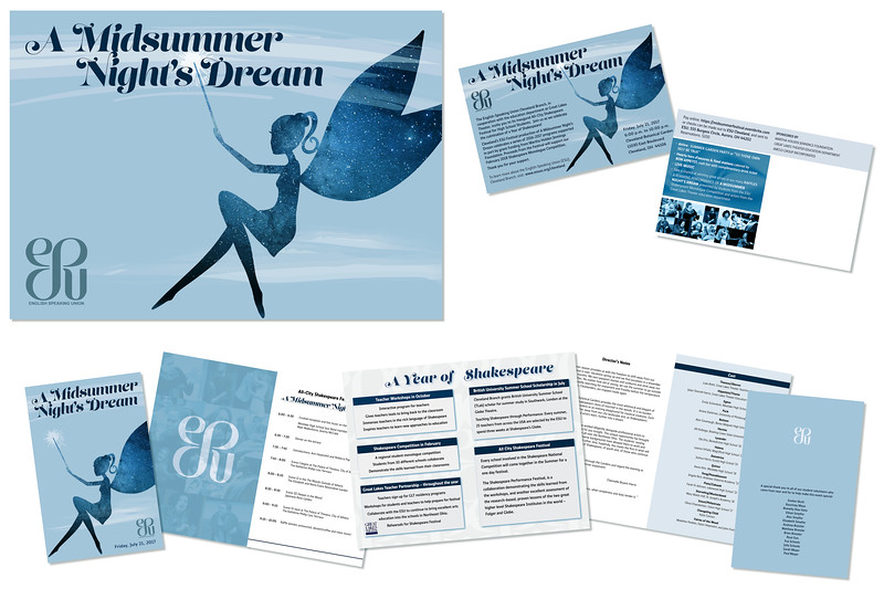 Midsummer Night's Dream poster, program, and mailer