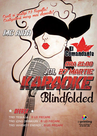 Karaoke Blindfolded