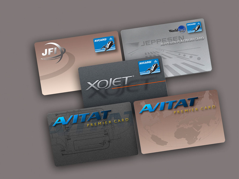 Avcard Branding on Aviation Service Cards