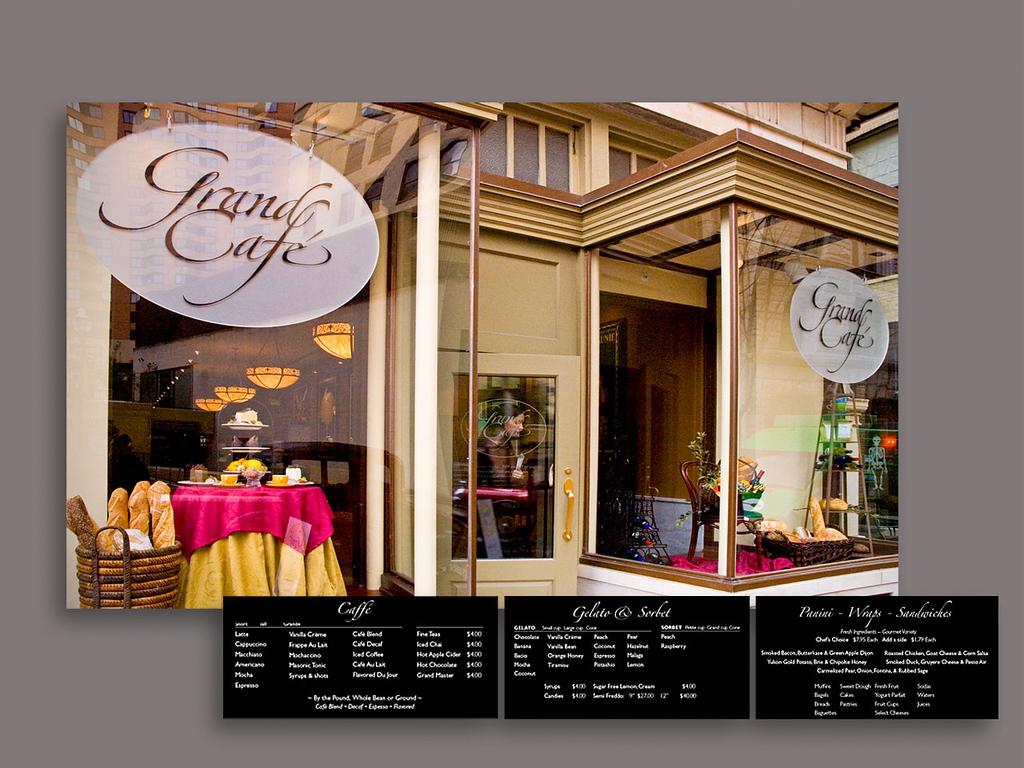 Grand Cafe Identity and Signage