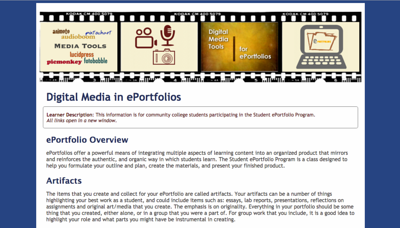 ePortfolio Digital Media - Concept Map