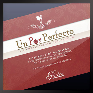 Un Par Perfecto Paire Cocktails & Pastries Philippines