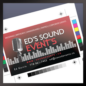Logo & Business Card Ed's Sound Events Vancouver, BC