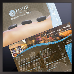 Mailing Flyer Fluid Day Spa Surrey, BC