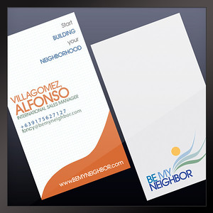 Business Cards Be My Neighbor Real Estate Community Program Philippines