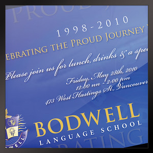 Invitation Bodwell Language School Vancouver, BC