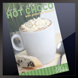 Hot Choco Poster Paire Cocktails & Pastries Philippines