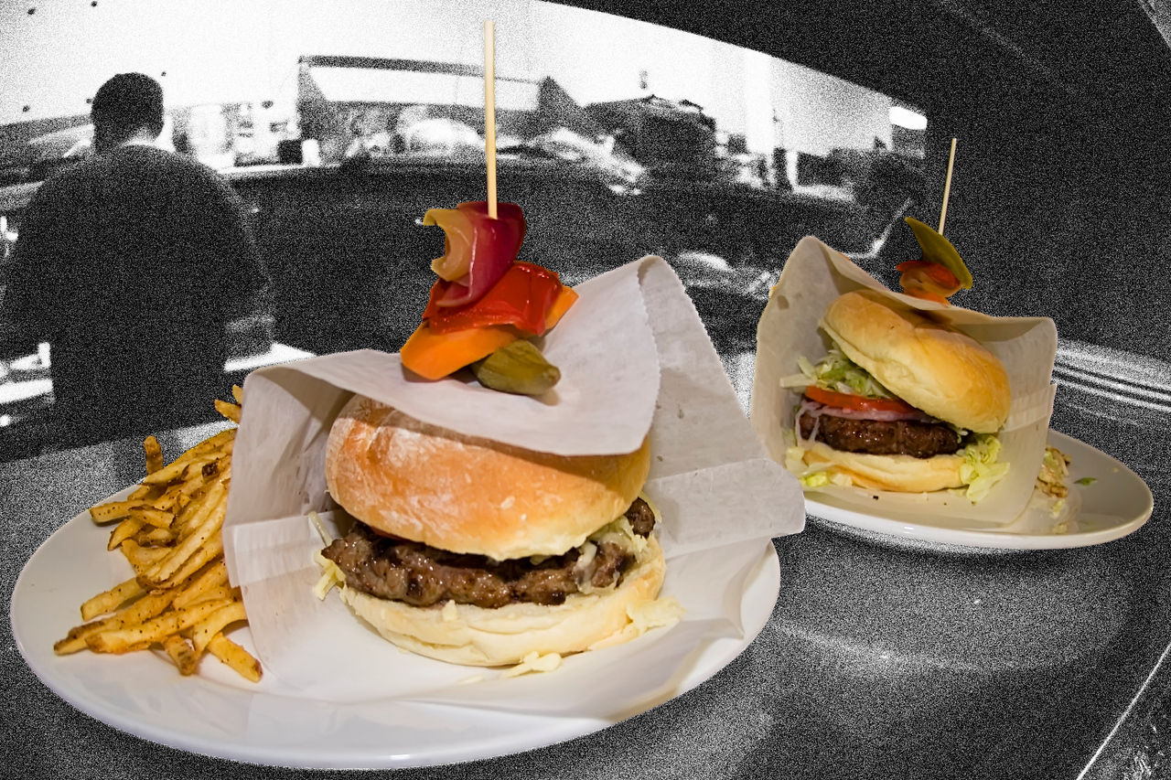 burgers ready to go to the table <br /> <br /> Rex's American Grill and Bar, Steamboat Springs, CO