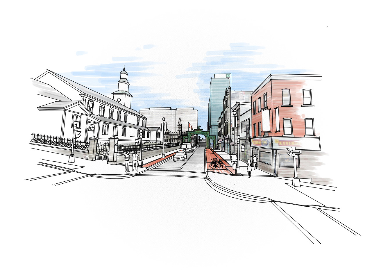 A perspective rendering from my thesis project on Barrington Street