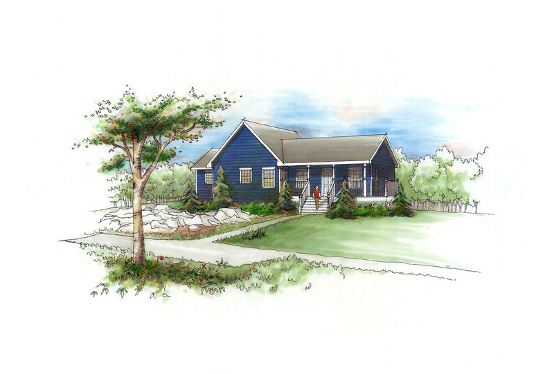 Perspective Rendering - Country House