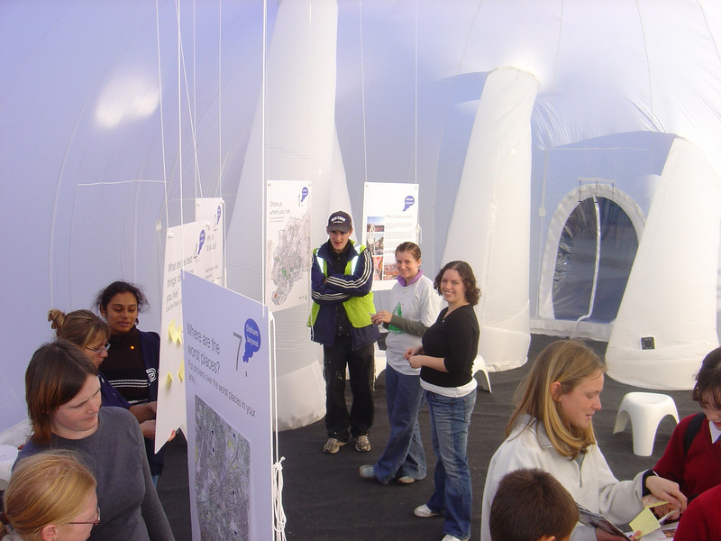 interior of inflatable room, 2003