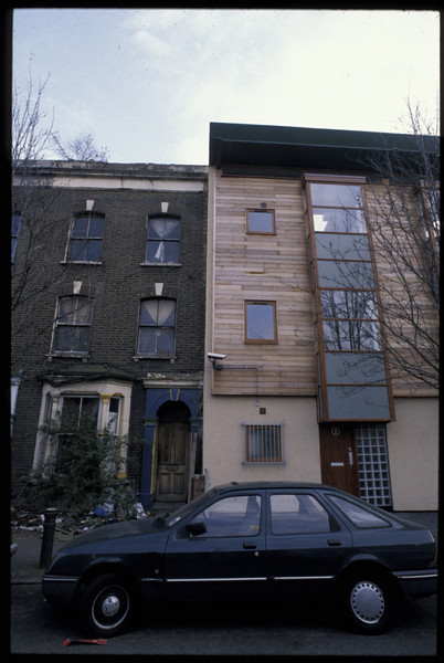 infill live work units, london fieldsa, hackney 1998