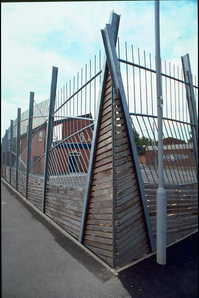 sports court fence, moss side, 1996