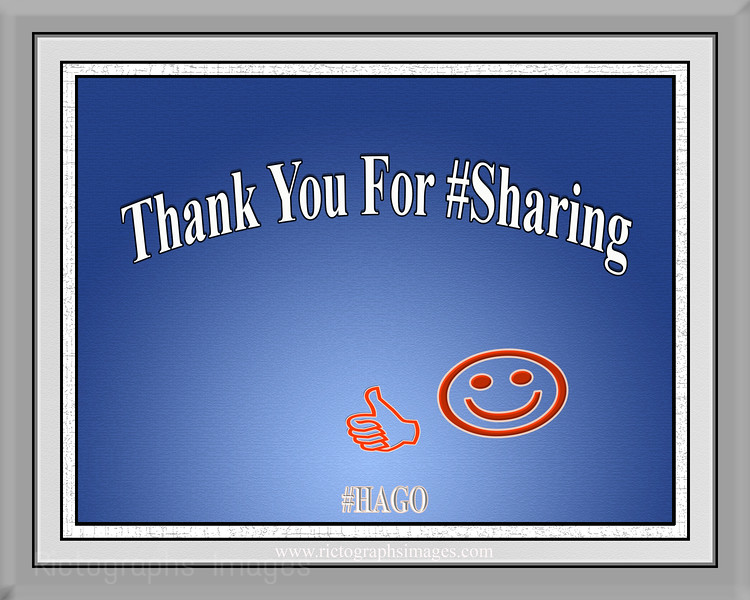 Thank You For #Sharing Rictographs Images