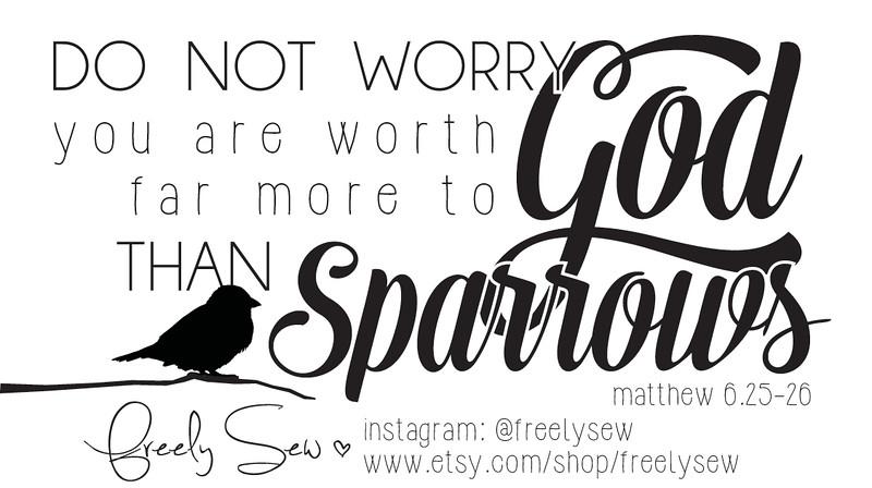 Scripture Card: Matthew 6:25-26