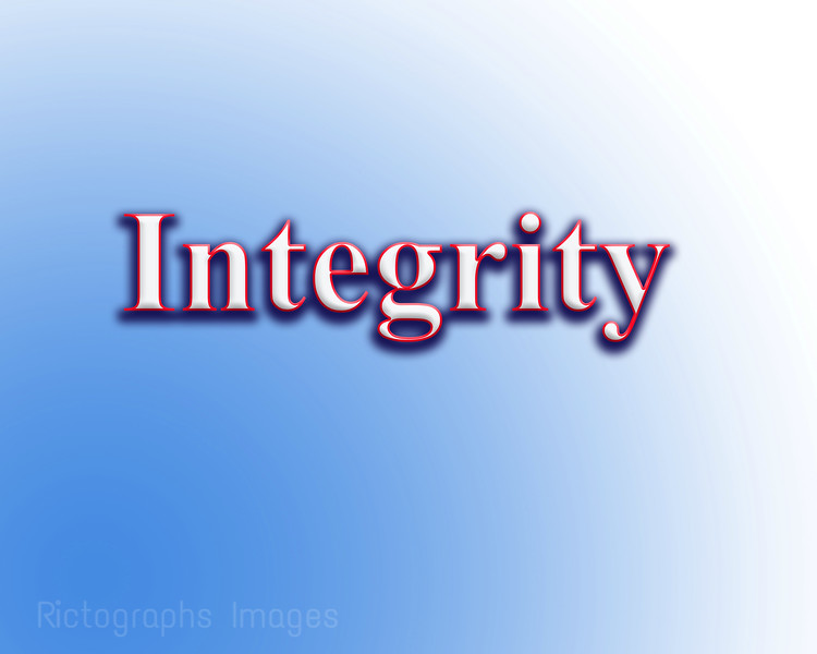 Integrity, Word Art