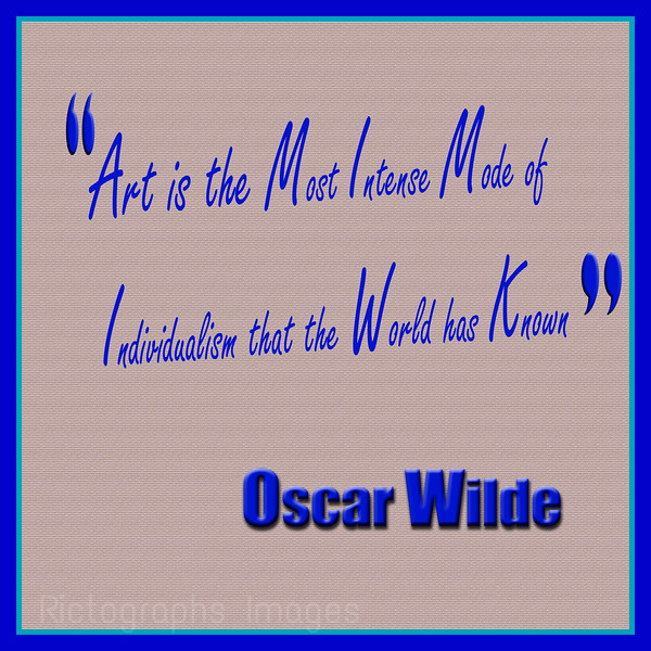 Art Quote, Oscar Wilde