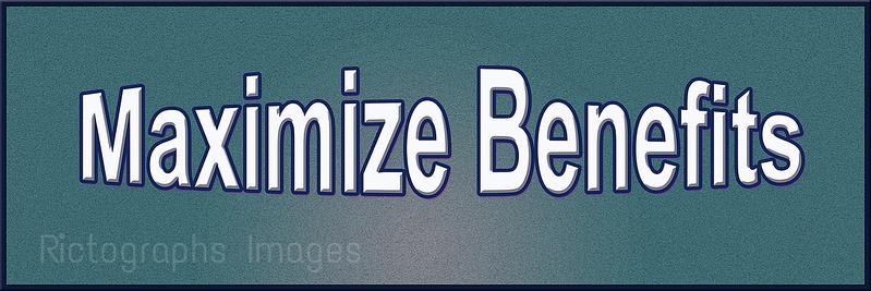 Maximize Benifits, Word Art Quote, Rictographs Images