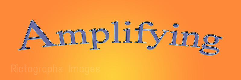 Amplifying Art, Yellow & Orange Bkgrnd